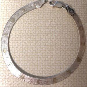 Sterling Silver Bracelet Moons & Stars Italy